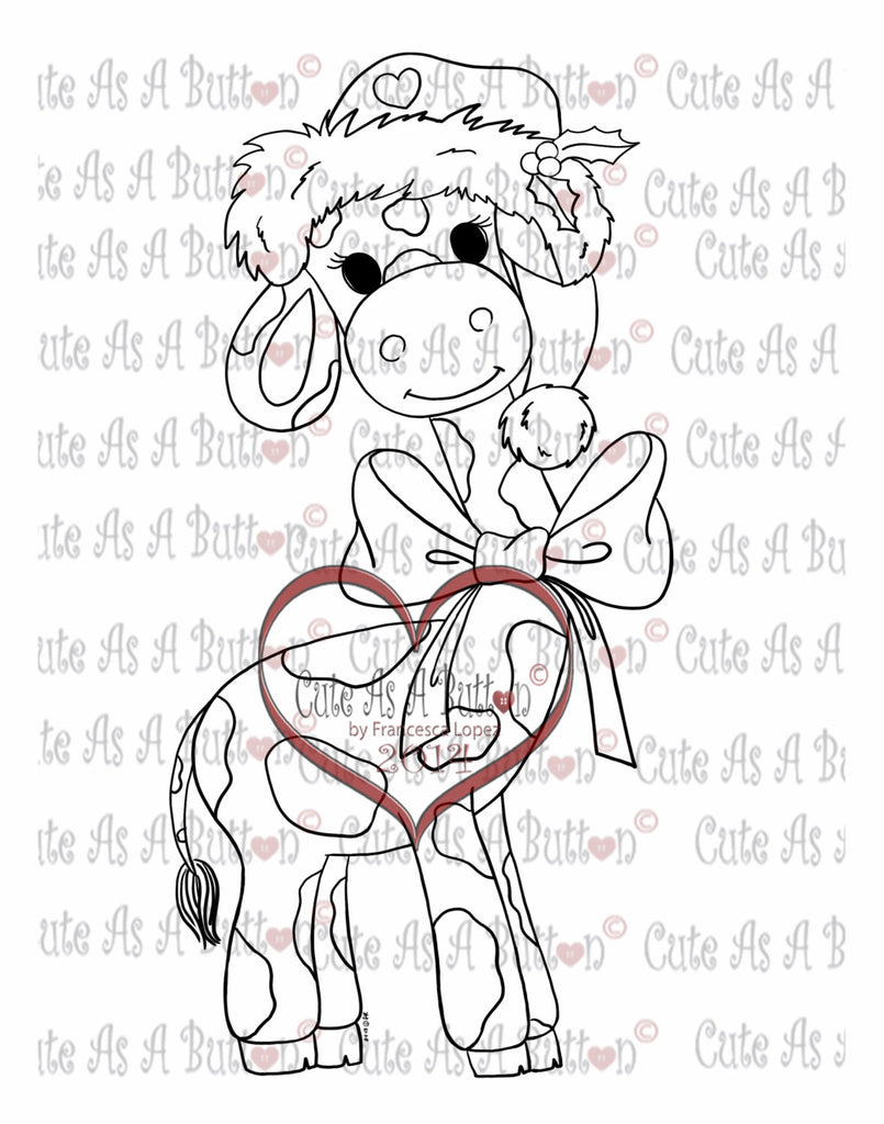 IMG00098 Christmas Girafe Digital Digi Stamp