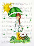 IMG00039 Raining Shamrocks Digital Digi Stamp-Revamped