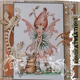 RS00001 Autumn Fairy Clear Cling Rubber Stamp