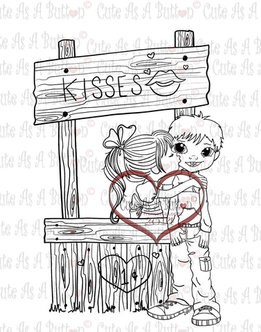 IMG00141 Kissing Booth Digital Digi Stamp