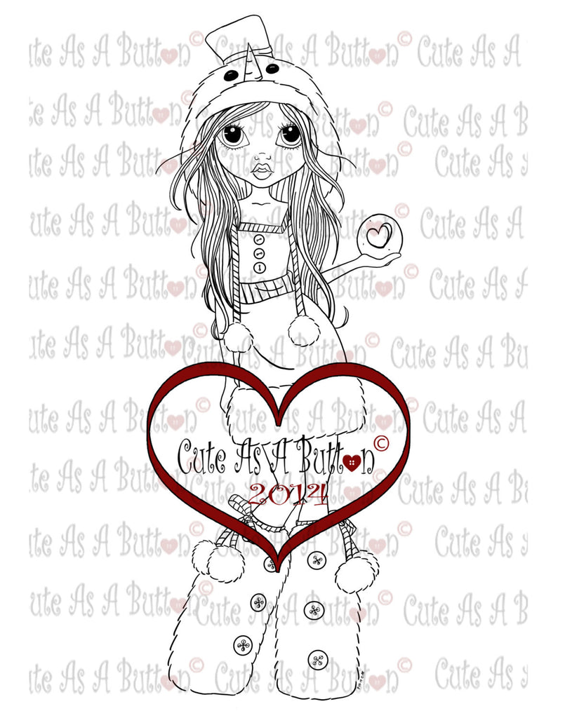 Cute As A Button Digistamps MissFrosty Digi Stamp
