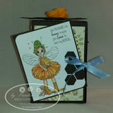IMG00068 Your Name Is Like Honey Fairy - Bible Journaling Bookmark Digital Digi stamp
