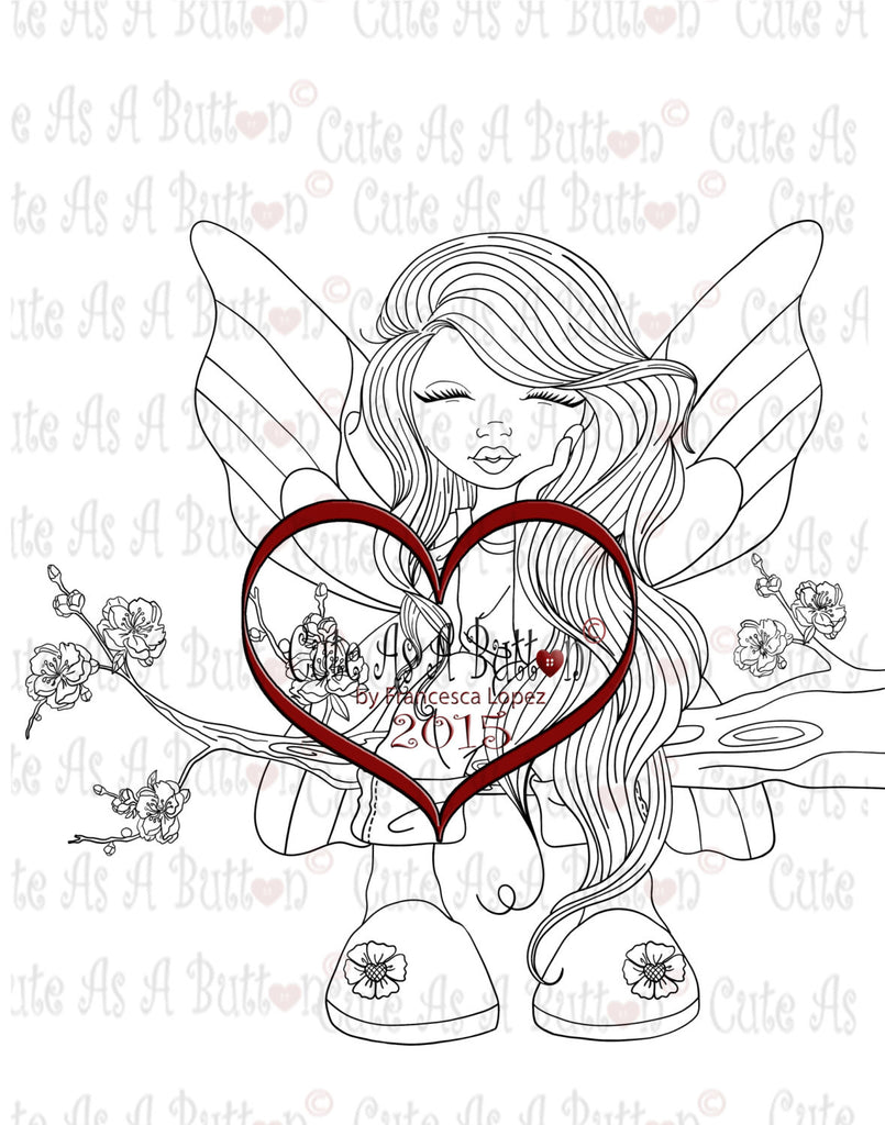 IMG00199 Butterfly Fairy Digital Digi Stamp