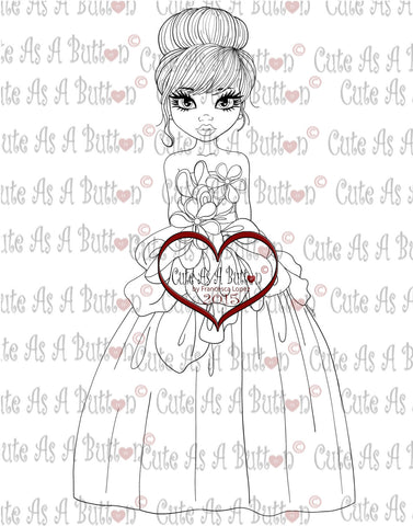IMG00235 Wedding Dress Digital Digi Stamp
