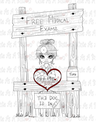 IMG00241 The Doc Is In - Female Digital Digi Stamp