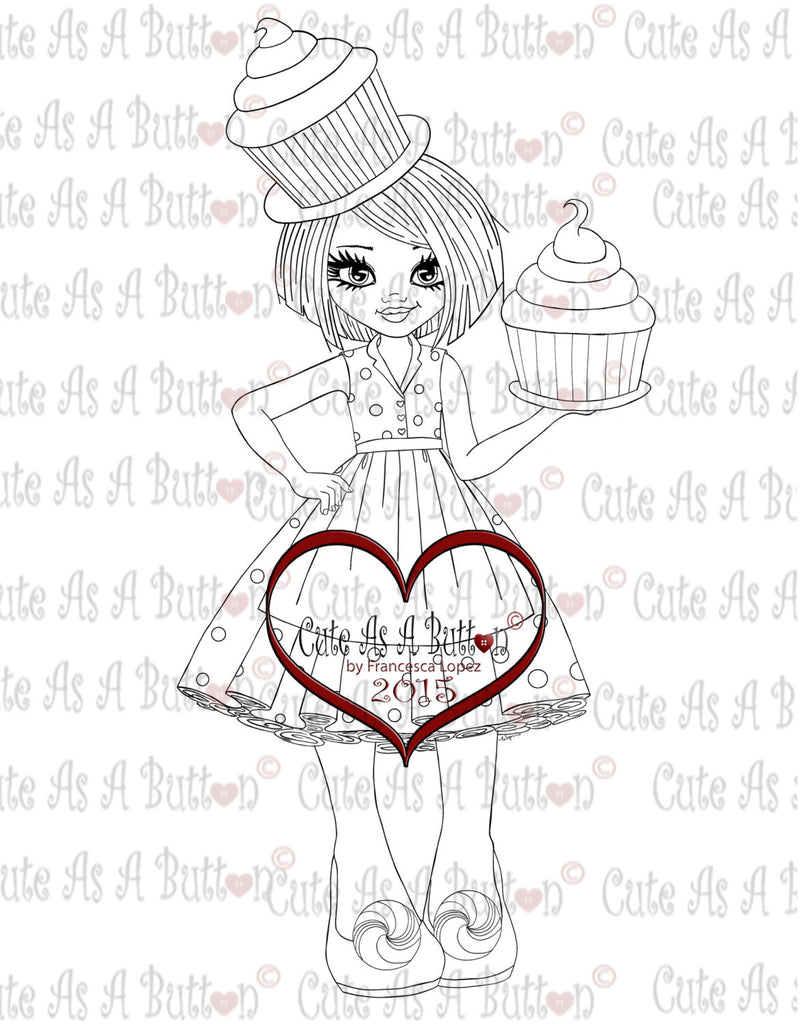 Cute As A Button Stamps Sweet Fashion Dgistamp