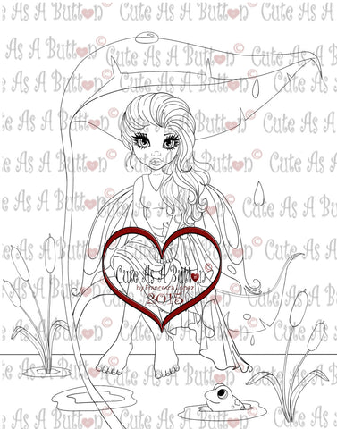 IMG00252 Lagoon Fairy Digital Digi Stamp