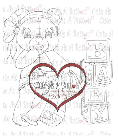 IMG00270 Baby Bear Buttons Digital Digi Stamp