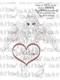 IMG00277 Those That Wait Upon The Lord Shall Mount - Bible Journaling  Bookmark Digital Digi Stamp