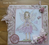 IMG00009 We Are ONE Body Ladybug Fairy - Bible Journaling Bookmark Digital Digi Stamp