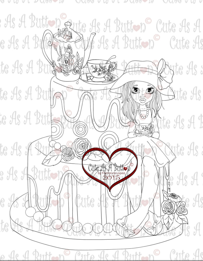 IMG00286 Tea Time Digital Digi Stamp