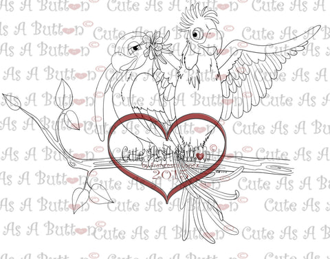IMG00300 Love Birds Digital Digi Stamp