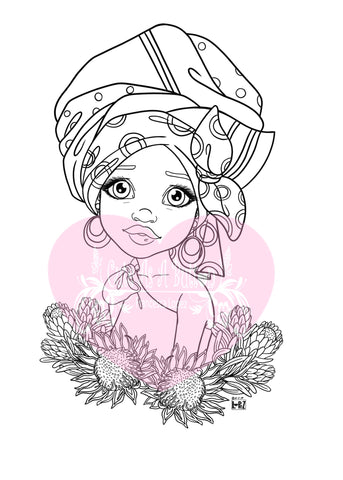 IMG00564-African-Princess Digital Digi Stamp