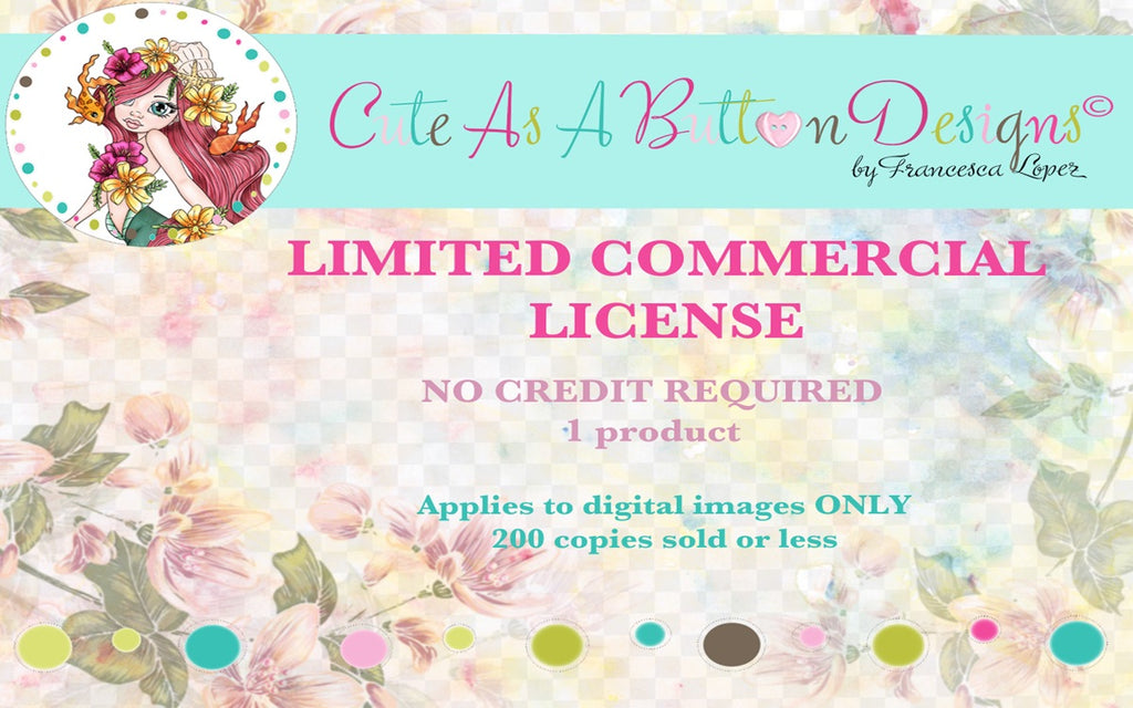 CL00001 - Commercial License - Limited, No credit required, Up to 200 sales or less