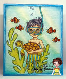 IMG00570-Snorkel-Fun-Boy Digital Digi Stamp