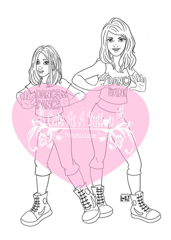 IMG00574-Dance-Girls Digital Digi Stamp