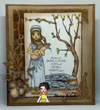 IMG00444 Woman at the Well - Bible Journaling Bookmark Digital Digi Stamp