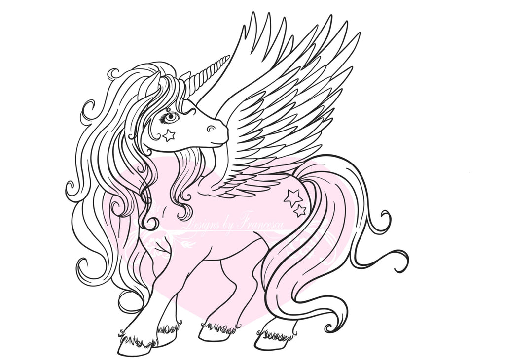 IMG00565-Rainbow-Unicorn Digital Digi Stamp