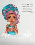 IMG00332 Living Water - Bible Journaling Bookmark Digital Digi Stamp