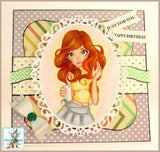Cute As A Button Designs IMG00519 Looking Pretty Digital Digi Stamp