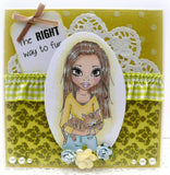 RS00003 Right Way to Fur Clear Cling Rubber Stamp