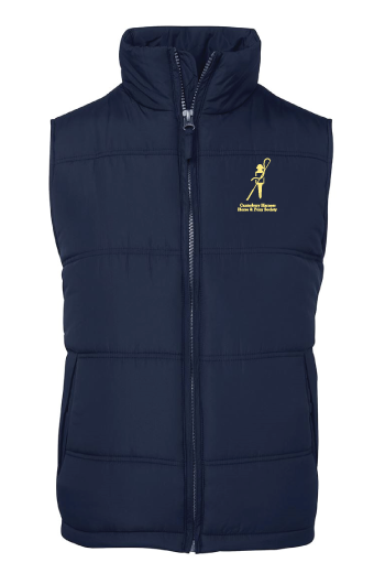 Canterbury Harness Horse Puffer Vest