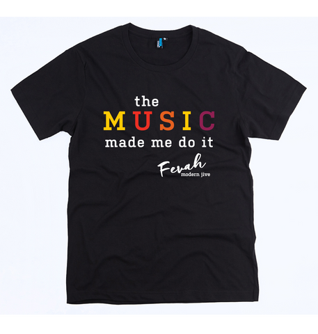 'Music Made Me Do It' unisex tee