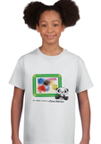 Kids Artwork T-Shirt - Cute Panda Frame