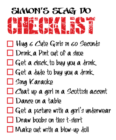 Stag Do Checklist