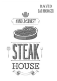 Steak House Apron with Street Name