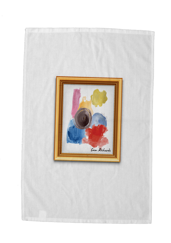 Kids Artwork Tea Towel - Signed by Me