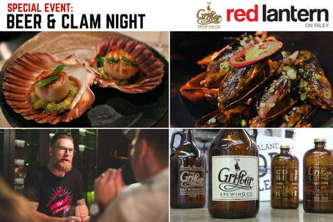 SPECIAL EVENT: Beer & Clam Night with The Grifter Brewing Co.
