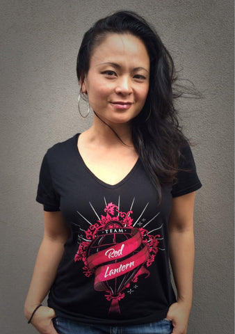 LADIES V-NECK TEAM RED LANTERN T-SHIRT