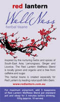 RED LANTERN WELLNESS HERBAL TISANE