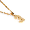 Golden Stainless Polished Jersey Number Pendant and Chain