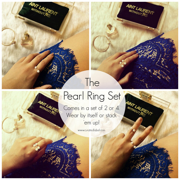 The Pearl Ring Set