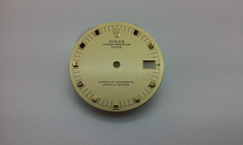 Rolex Men's Date Champagne with Block Hour Markers for Two-Tone or Gold