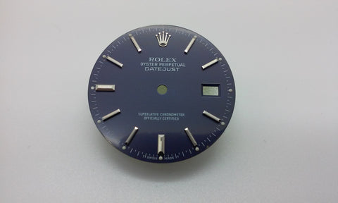 Rolex Men's Datejust Blue with Stick and Bar Markers for Stainless-Steel