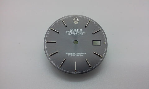 Rolex Men's Datejust Slate with Stick Markers for Stainless-Steel