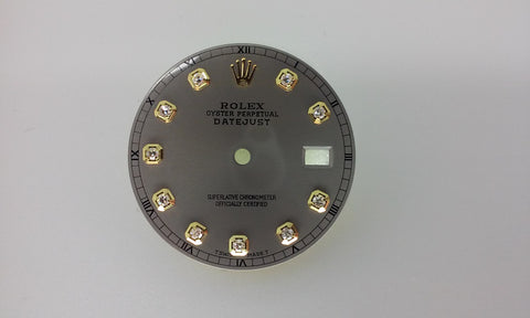 Rolex Men's Datejust Slate with Diamonds for Two-Tone or Gold