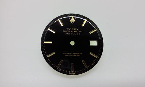 Rolex Men's Datejust Black Stick Markers for Two-Tone or Gold Non-Quick Movement