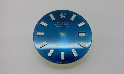 Rolex Men's Datejust Blue with Bar Markers for Stainless-Steel