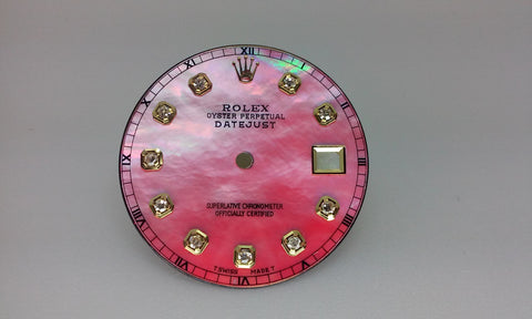 Rolex Men's Datejust Pink Mother of Pearl with Diamonds for Two-Tone or Gold