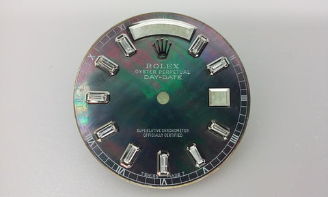 Rolex Day-Date Tahitian Mother of Pearl with Full Baguettes for White Gold or Platinum