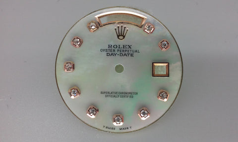 Rolex Day-Date White Rainbow Mother of Pearl with Diamonds for Gold