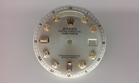 Rolex Day-Date Oyster with Baguettes and Round Diamonds for Gold Non-Quick Movement