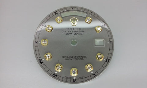 Rolex Day-Date Slate with Diamonds For Gold