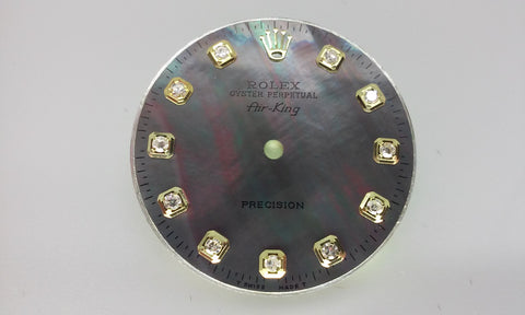 Rolex Air-King Tahitian Mother of Pearl Diamond Dial for Two-Tone or Gold
