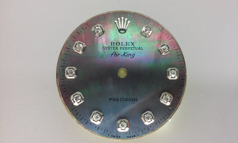 Rolex Air-King Tahitian Mother of Pearl Diamond Dial for Stainless-Steel