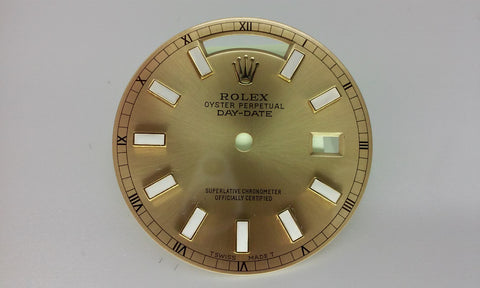 Rolex Day-Date Champagne with Bar Marker